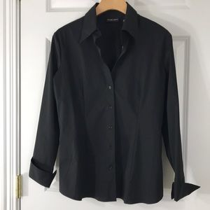 New York & Company Tops - Black stretch cotton blouse NWT